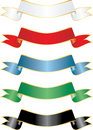 Five ribbons Royalty Free Stock Photography