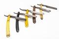 Five rusty razors Royalty Free Stock Photo