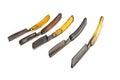 Five rusty razors Royalty Free Stock Image