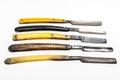 Five rusty razors Royalty Free Stock Photography