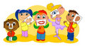 Five senses kids Royalty Free Stock Photo