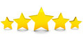 Five stars golden rating concept full rating with in stylish arrangement Royalty Free Stock Images
