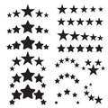 Five stars icons five star quality icons five star symbols black isolated on a white background vector illustration Stock Photography