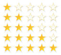 Five stars quality set illustration Stock Images