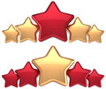 Five stars service gold red leadership award Stock Photography