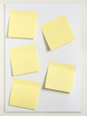 Five Sticky notes Royalty Free Stock Photo