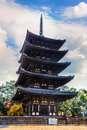 Five storied pagoda at kofukuji temple in nara established by kagami no okimiits original site was yamashina present kyoto and Stock Image