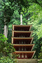 Five-storied Pagoda of Murouji Temple at Nara Stock Photos
