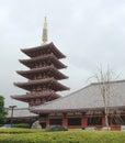 Five Storied Pagoda at Senso-Ji Royalty Free Stock Photo