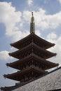 Five storied pagoda at senso ji temple Stock Image