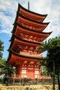 Five-storied Pagoda Gojunoto, Toyokuni Shrine Senjokaku, Miyajima, Hiroshima, Japan