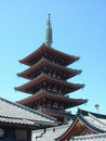 Five stories pagoda Stock Image