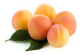 Five sweet peaches Royalty Free Stock Photo