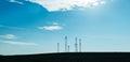 Five telecommunication mast TV antennas Royalty Free Stock Photo