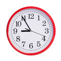 Five to nine on a round clock face