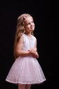 Five-year girl in a beautiful dress white Royalty Free Stock Photo
