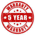 Five year warranty stamp vector illustration Stock Photography