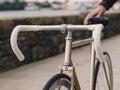 Fixie bicycle detail Royalty Free Stock Photo