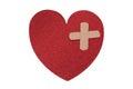Fixing a broken heart Royalty Free Stock Photo