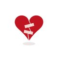 Fixing a Broken Heart with Adhesive Tape - Concept Illustration Royalty Free Stock Photo