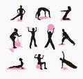 Fizyczne fitness kobiety Fotografia Royalty Free