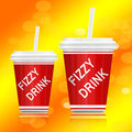 Fizzy drink. Royalty Free Stock Photo