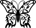 Fjärilsdesignelement Royaltyfria Bilder