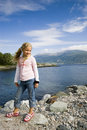 Fjord girl. Royalty Free Stock Photography