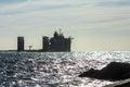 Fjord heavy lift ship near Rotterdam harbor Royalty Free Stock Photo