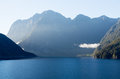 Fjord of Milford Sound in New Zealand Royalty Free Stock Photo