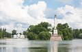 Fléau et pavillon de Chesme. St Petersburg, Russie Image stock