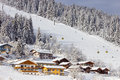 Flachau austria ski piste in Stock Images