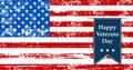 Flag America illustration to the day veterans retro