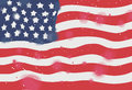 Flag of America, Watercolor on white background. Digital art pai