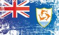 Flag of Anguilla. British overseas territory. Wrinkled dirty spots.
