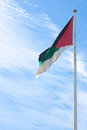 Flag of the Arab Revolt in Aqaba, Jordan Stock Photography