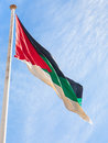 Flag of the Arab Revolt outdoors in Aqaba city Royalty Free Stock Photo