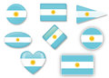 Flag of argentina for various uses by designers and printers Stock Photography