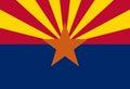 Flag of Arizona Royalty Free Stock Photo