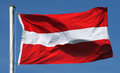 Flag of austria in the sun Royalty Free Stock Photo