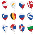 Flag balloons Royalty Free Stock Images