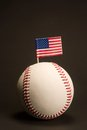 Flag in baseball Royalty Free Stock Photos