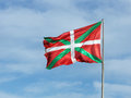 Flag of basque country with wind Stock Photos