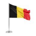 Flag of belgium national waving isolated on white background d illustration Stock Photos