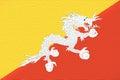 Flag of Bhutan Wall