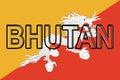 Flag of Bhutan Word