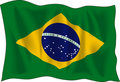 Flag of Brasil Stock Photos