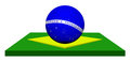 Flag of Brazil with soccer ball design Stock Photos