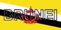Flag of Brunei Word.