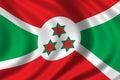 Flag of Burundi Royalty Free Stock Image